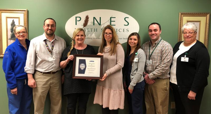 The Pines Team Receives the HRSA Grant for Quality Performance in 2017